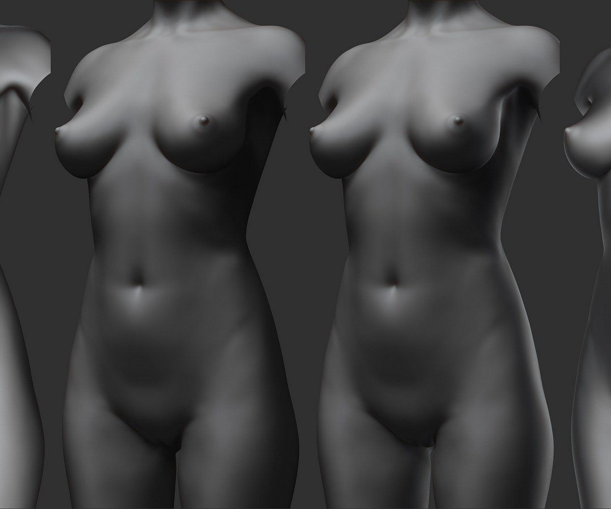 Zbrush Lighting Studies (Three quarter variations).jpg