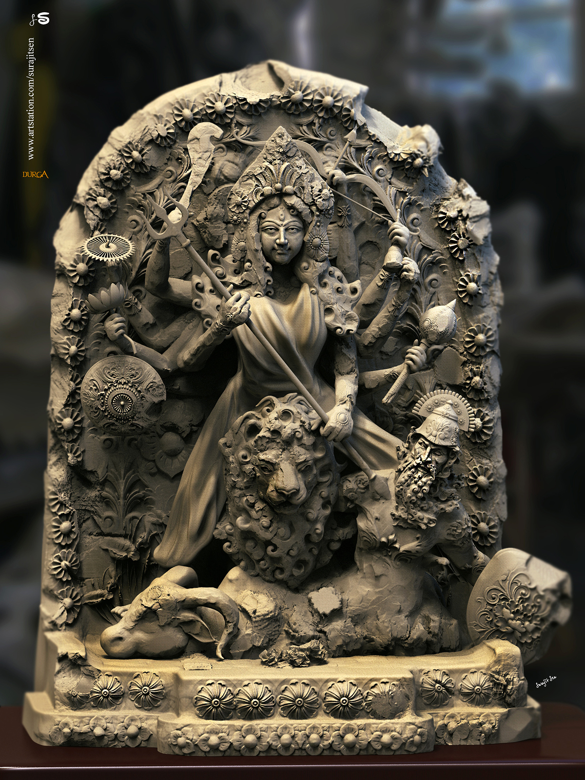 Durga_01_Digital_SCulpture_SurajitSen_March2020S