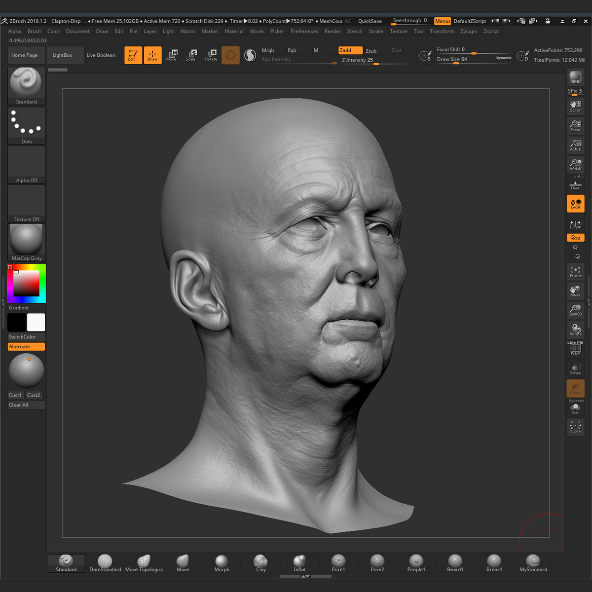 Eric Clapton - ZBrushCentral
