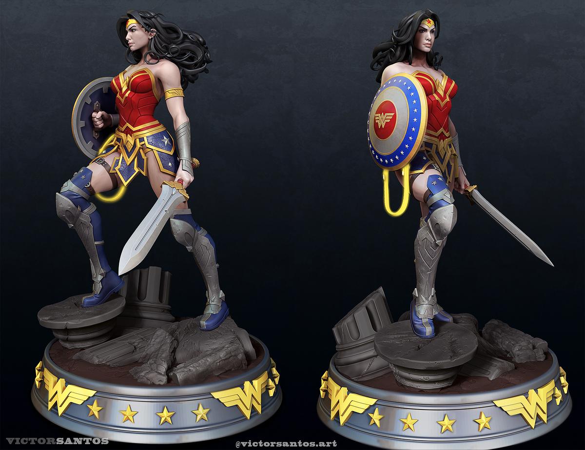 Render Wonder Woman