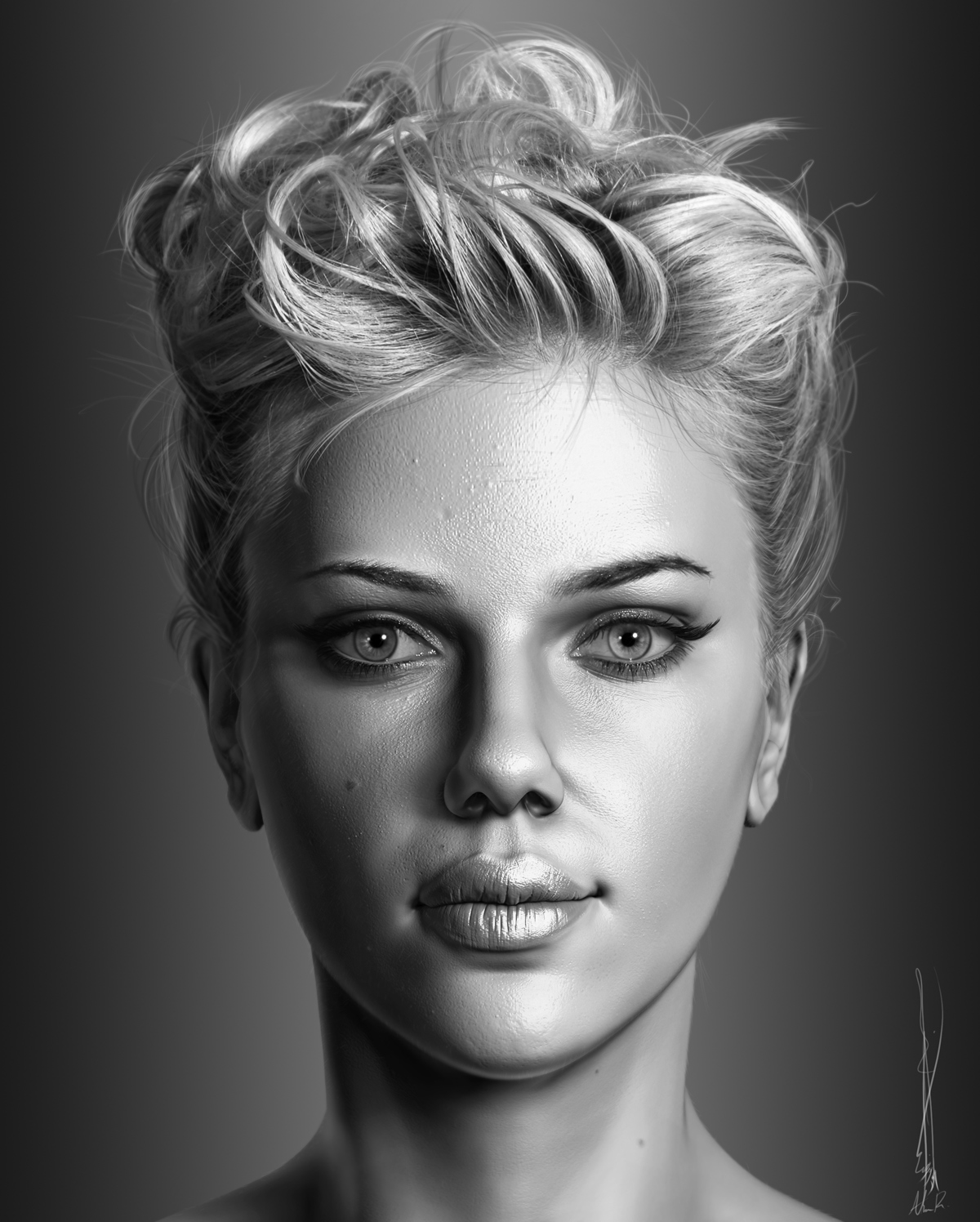 Portrait Of Scarlett Johansson Zbrushcentral