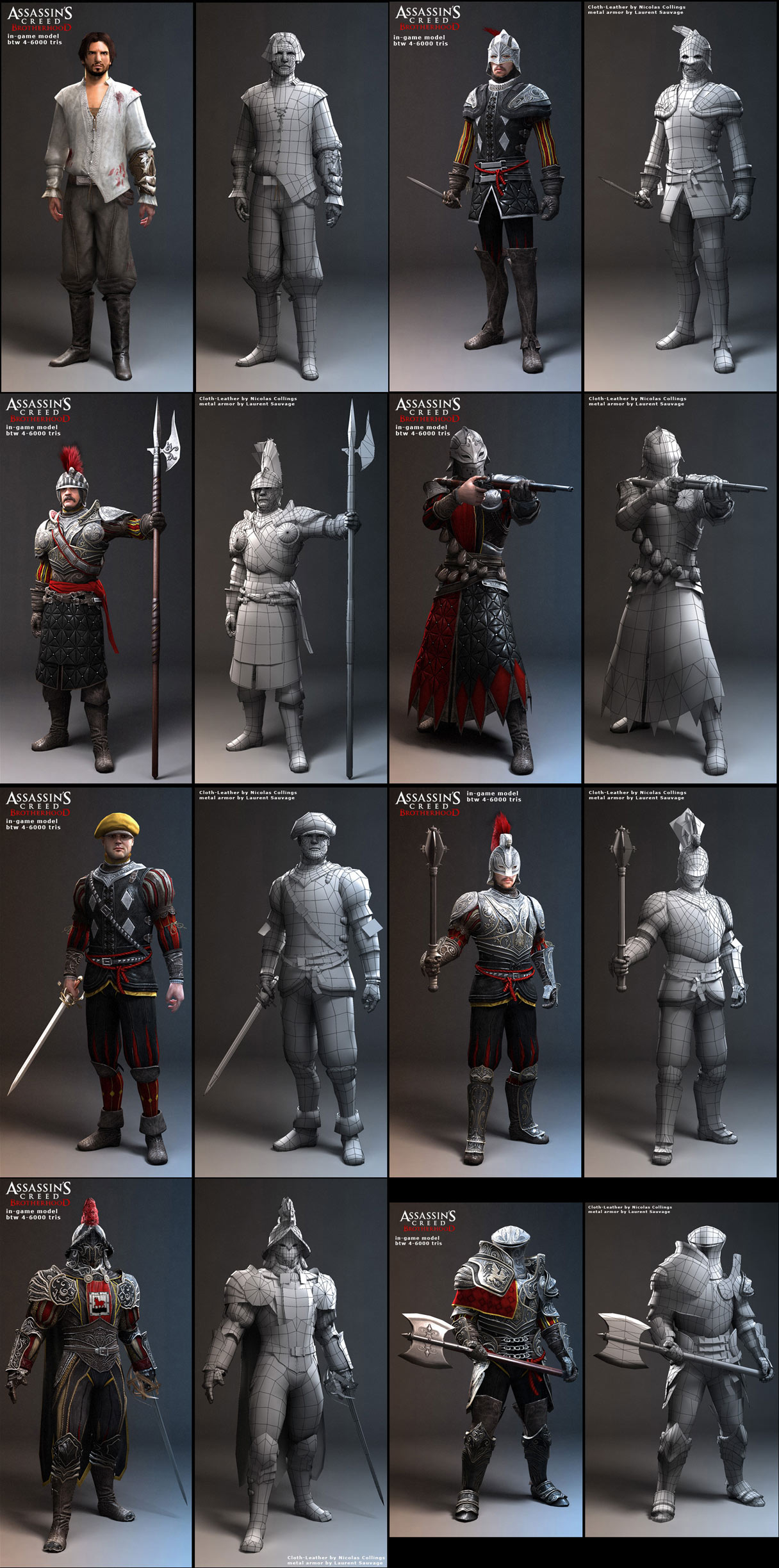Assassin S Creed Brotherhood Characters Zbrushcentral