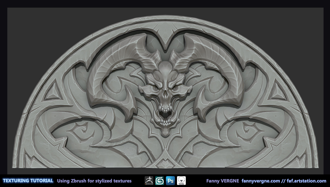 Texturing Tutorial, Using Zbrush to create stylized textures