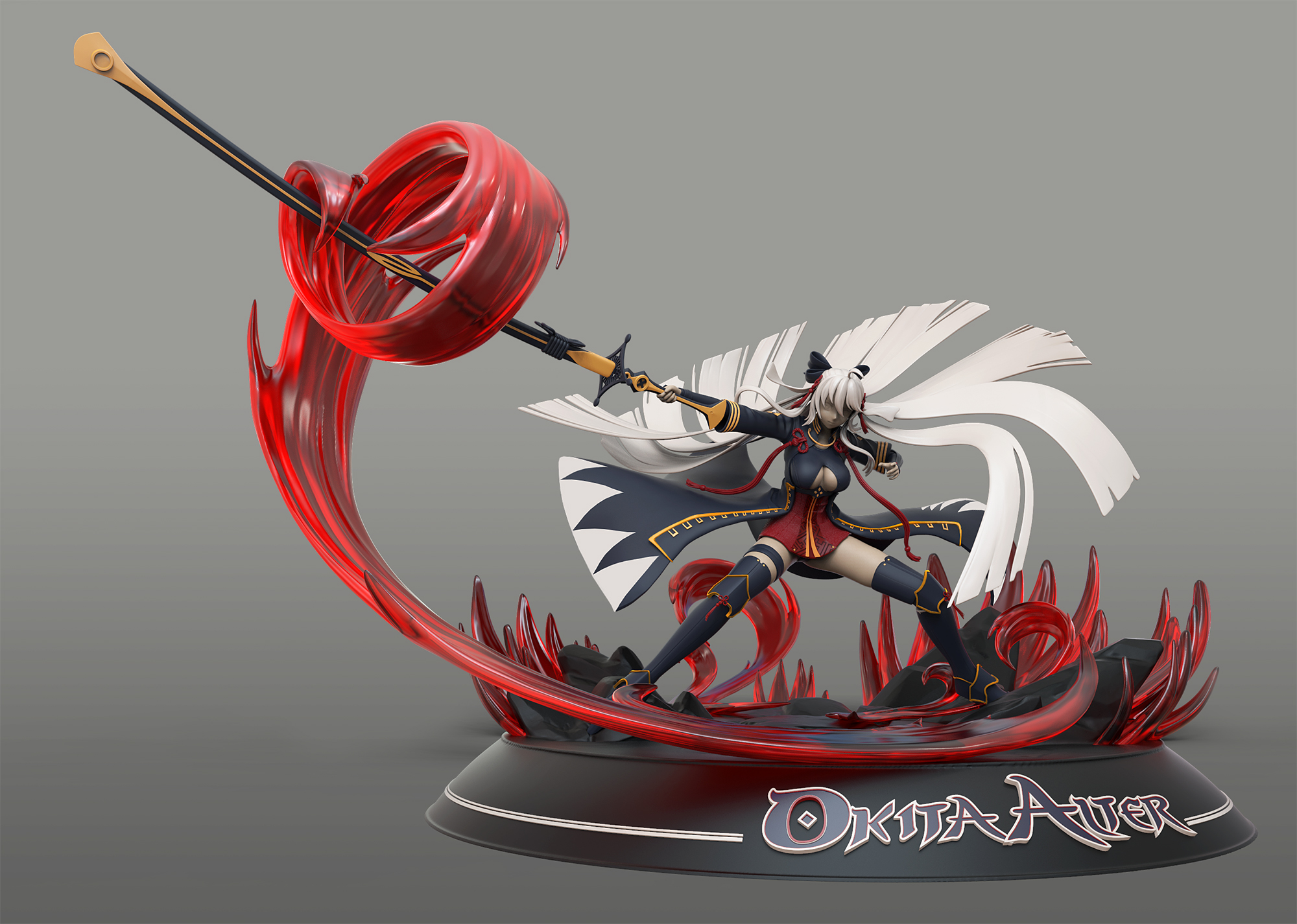 Okita Alter 3d Printing Project Zbrushcentral
