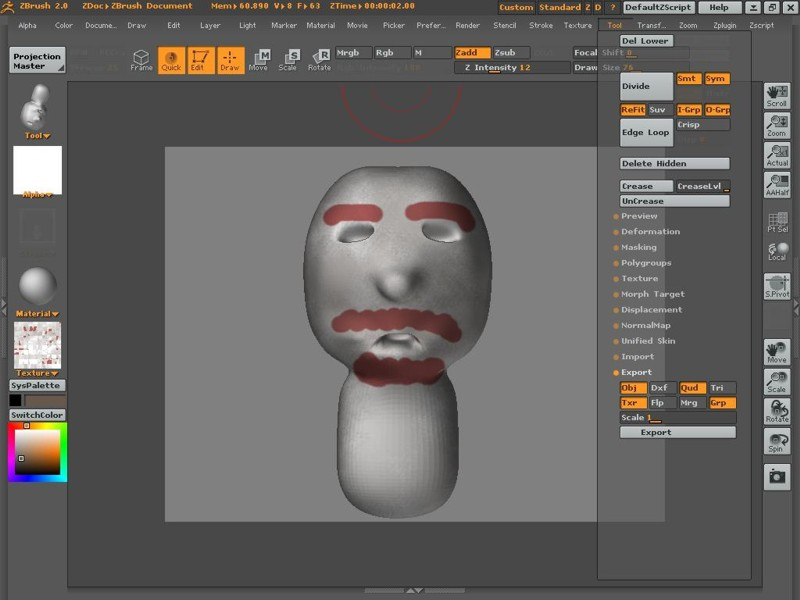Zbrush And Max7 Texture Zbrushcentral