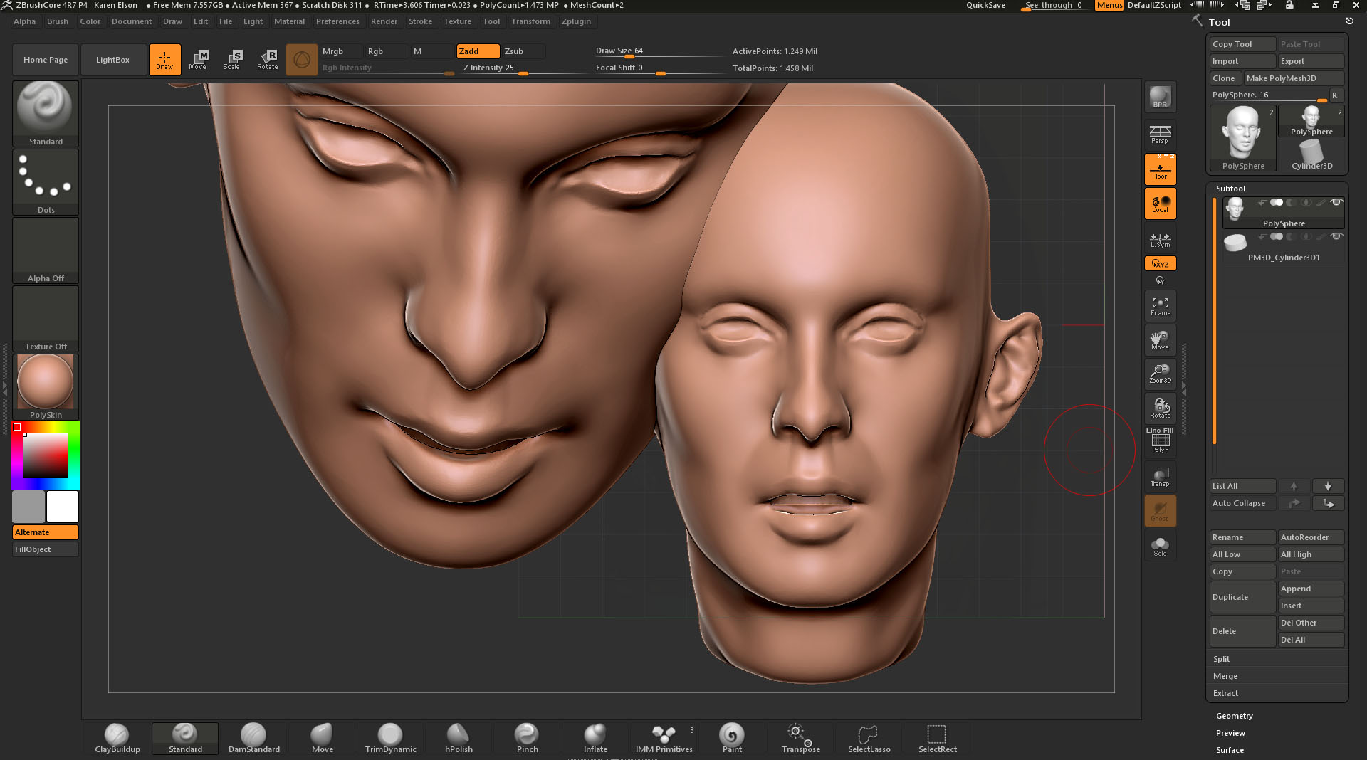 ZBrush Core Snapshot - Can't Clear the Canvas? - ZBrushCentral