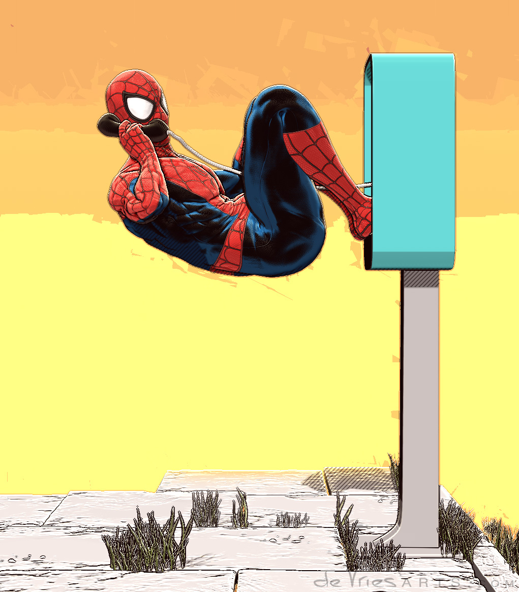 spideyPhone2_spiderman_ThijsDeVries_deVriesArts.jpg