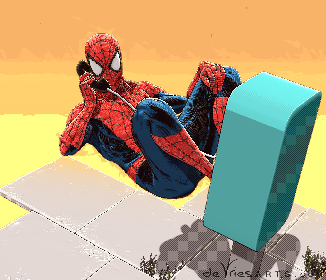 spideyPhone_spiderman_ThijsDeVries_deVriesArts.jpg