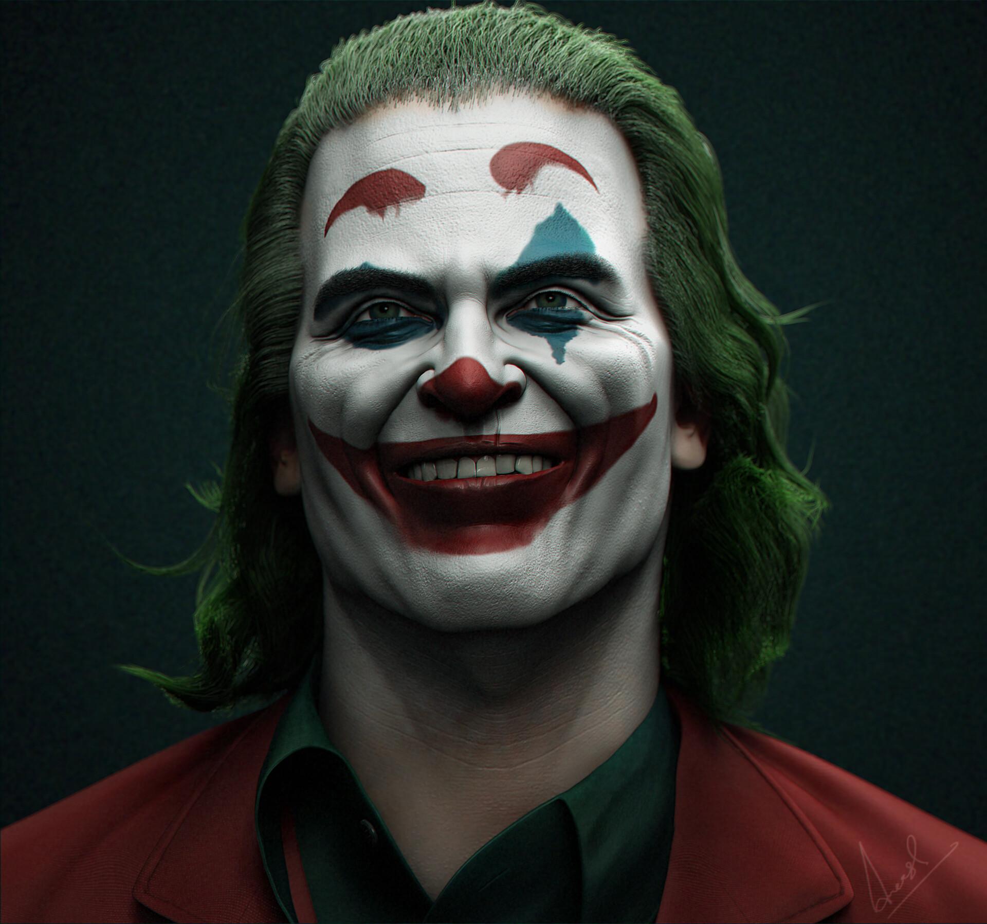 Joaquin Phoenix Joker Zbrushcentral