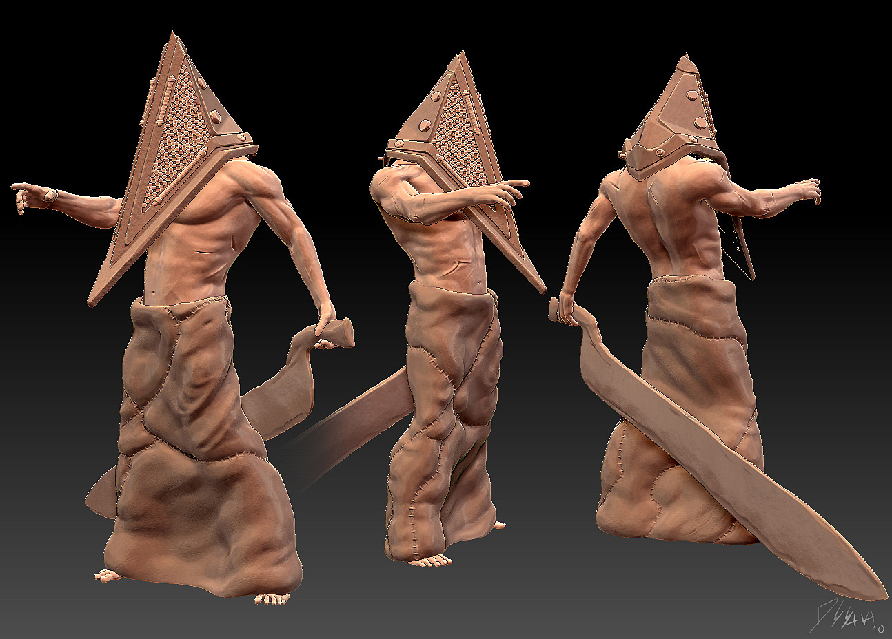 Pyramid Head Silent Hill Wip Shader Help Zbrushcentral