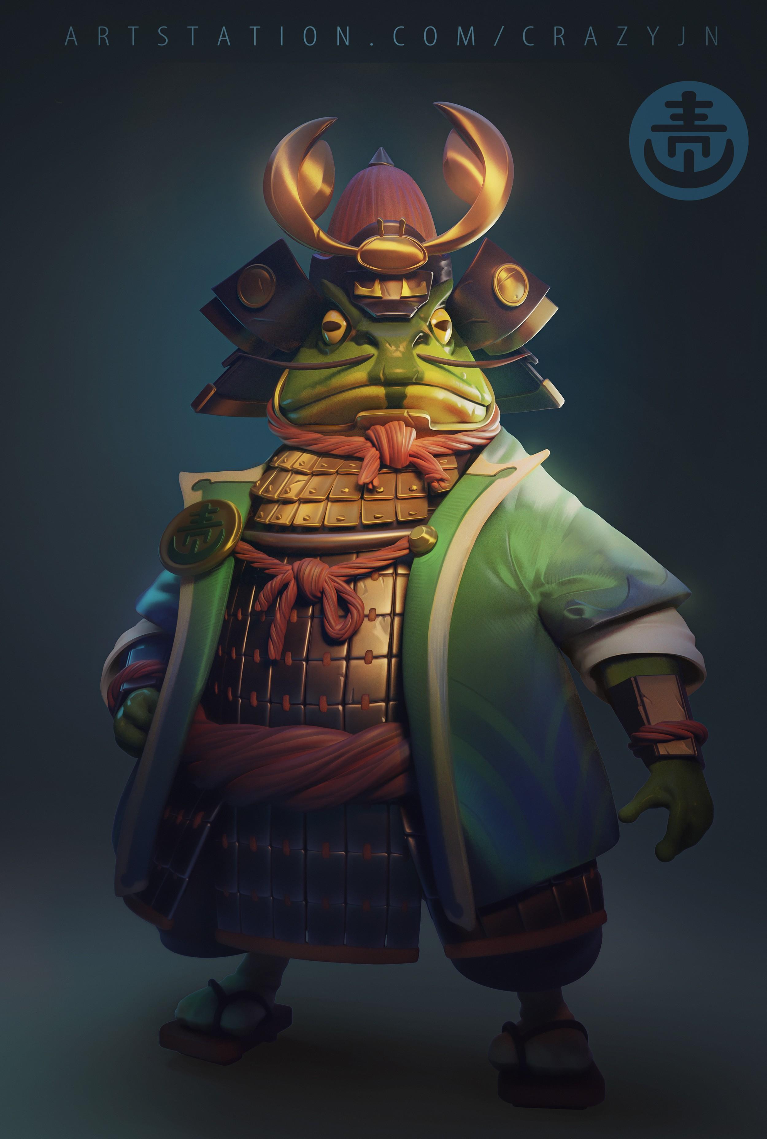 Frog Samurai Zbrushcentral