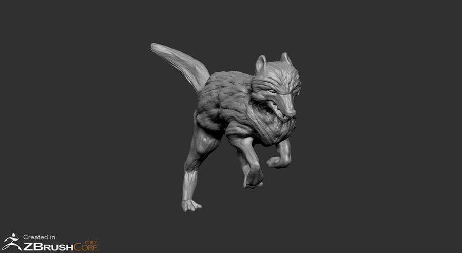wolf-zbrushcoremini