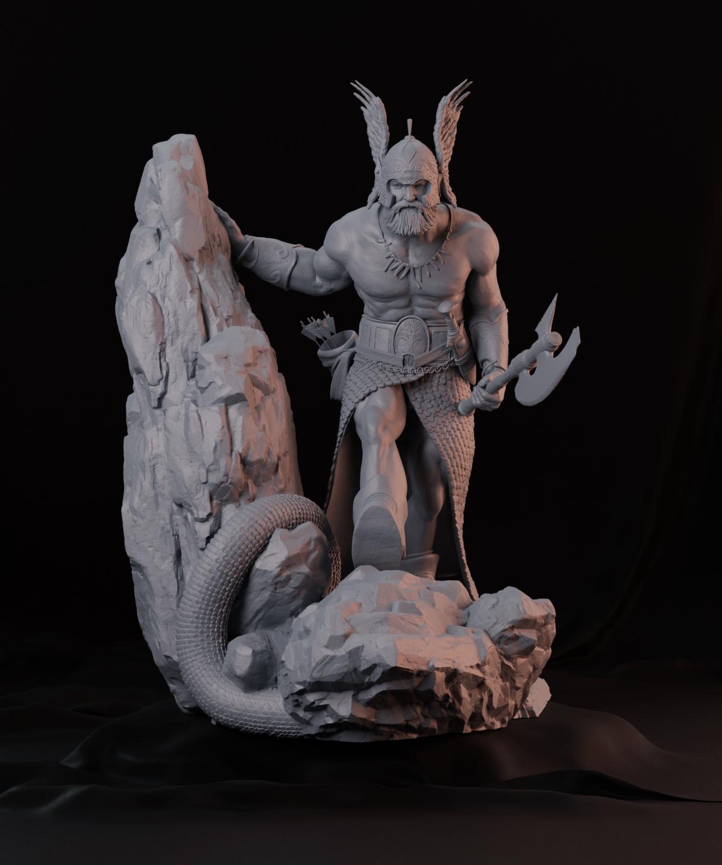3dprinting Art Sculpture: Frank Frazetta's Dark Kingdom