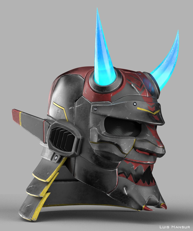 Sci Fi Samurai Helmet Zbrushcentral