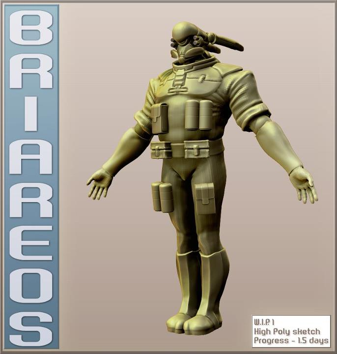 Briareos Character From Appleseed Meets Mad Max Lonewolf N Cub Zbrushcentral