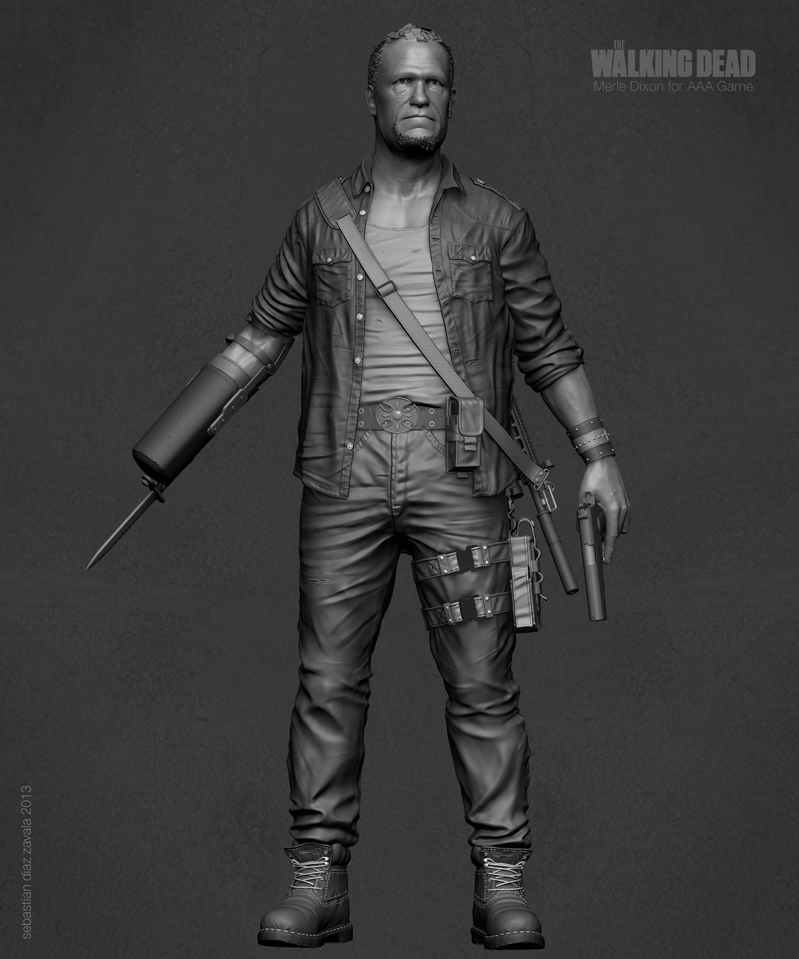 Merle Dixon for Next Gen Games_Sculpting_000x_02Zbrushh.jpg
