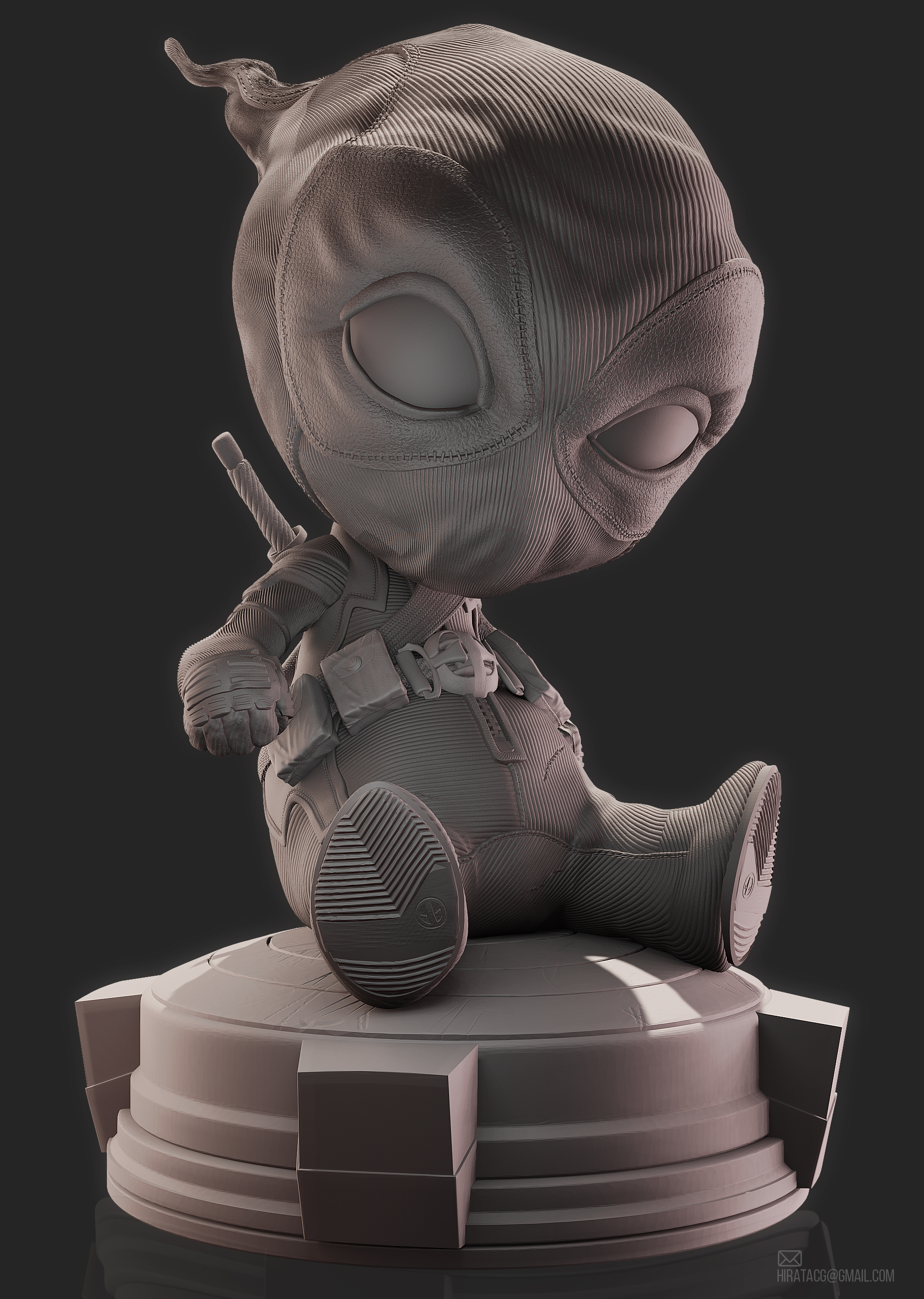 Deadpool Baby 3d Print Work Zbrushcentral
