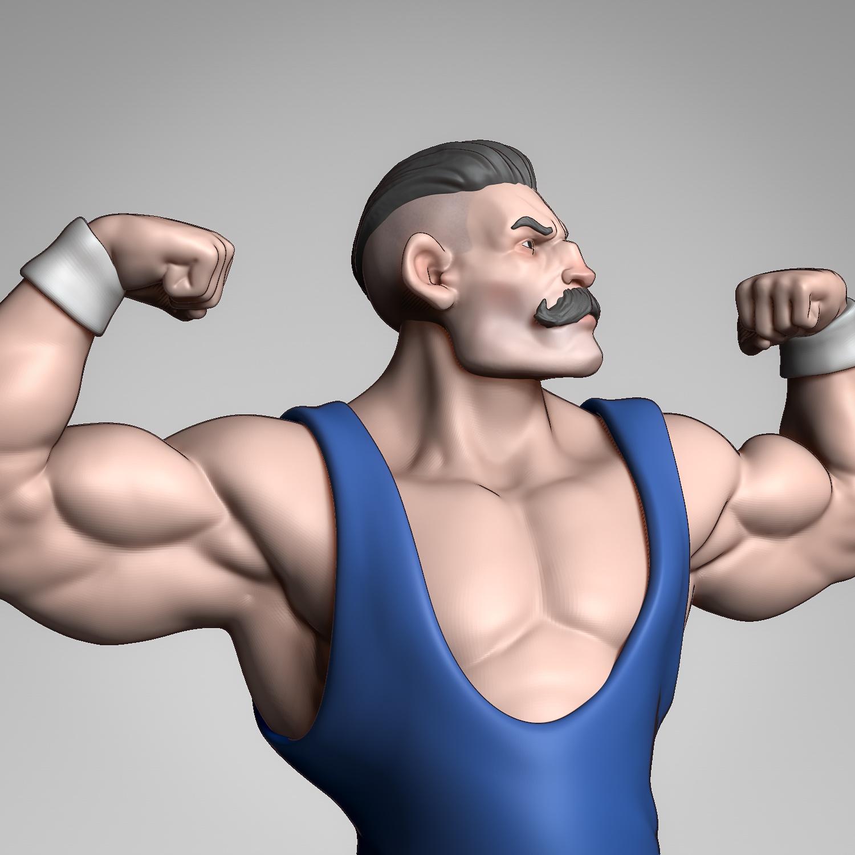 Cartoon Bodybuilder Sketch Zbrushcentral